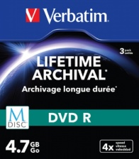 диск DVD+R 4,7 Гб перезапис. 4х.Slim Single M-DISC Verbatim (3шт) (СМ)