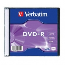 диск DVD-R 4,7 Гб запис. 16х Slim Single Verbatim  (СМ)